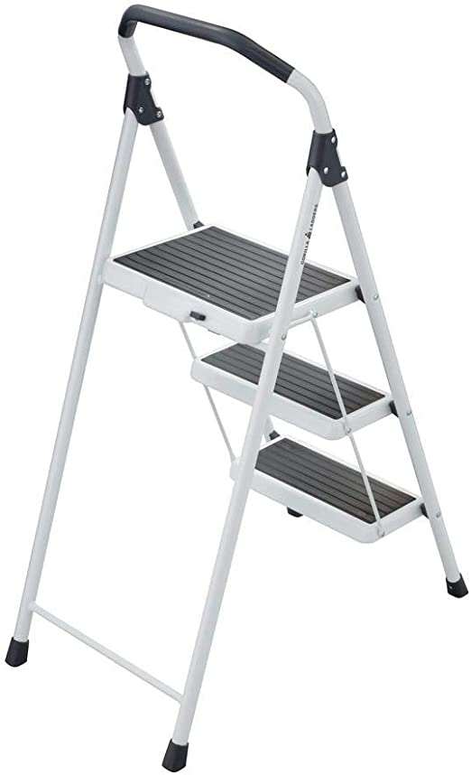 Gorilla Ladders 3 Step Steel Lightweight Step Stool Ladder 225 Lbs Load Capacity Type Ii Duty Rating Amazon Com