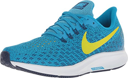 Nike Womens Air Zoom Pegasus 35 Running Shoes (7.5 B US, Blue Orbit/Bright Citron/Blue Void) (Nike Women Running Shoes Fitsole)