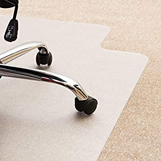 "Floortex Cleartex UltiMat Polycarbonate Chair Mat for Low/Medium Pile Carpets up to 1/2"" Thick, 47"" x 35"", Rectangular with Lip, Clear (118923LR) (B000NRTJ16) 