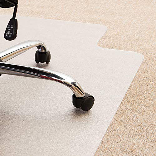 - Cleartex Ultimat Chair Mat, Clear Polycarbonate, for Plush Pile Carpets Over 1/2
