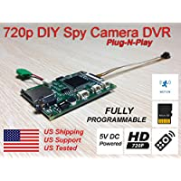 AES 720AW All-in-One DIY HD Mini Spy Camera Covert Hidden Surveillance DVR Board Kit Spy Gadget