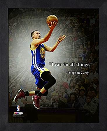 Stephen Curry Golden State Warriors NBA Framed Pro Quotes All Things 16x20