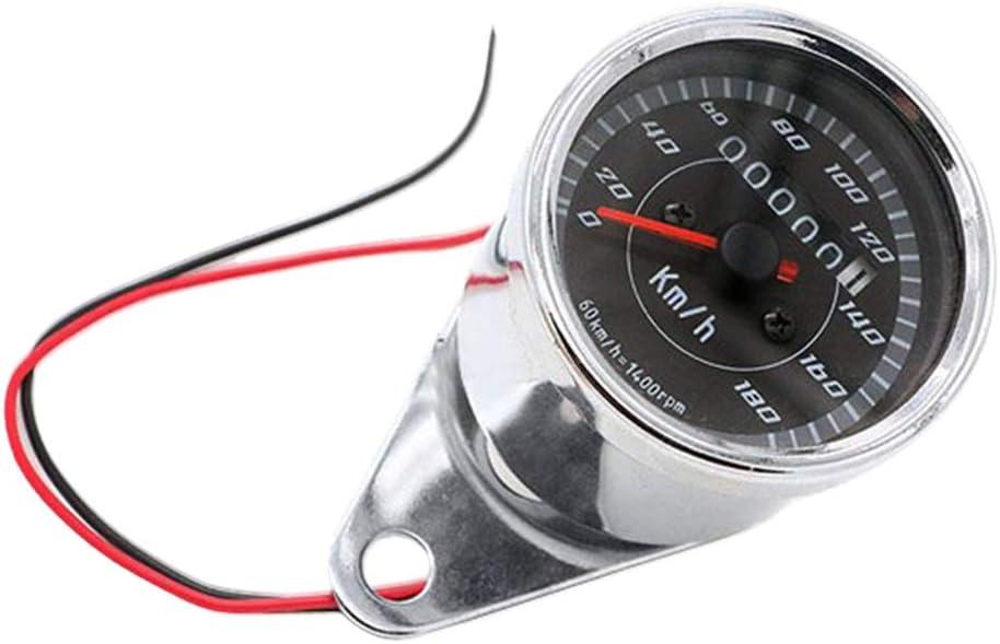 Shiwaki 12 V Motorcycle Dual LED Od/ómetro Veloc/ímetro KPH Con Cable De Sensor 3 Cables