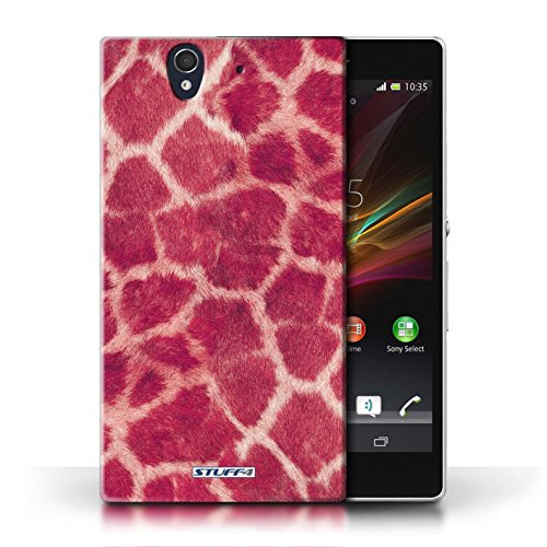 Etui / Coque pour Sony Xperia Z / Rose conception / Collection de Girafe animale Peau/Motif