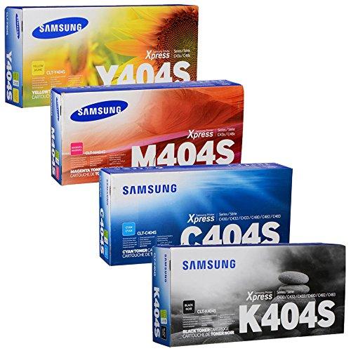 Samsung CLT-K404S, CLT-C404S, CLT-M404S, CLT-Y404S Standard Yield Toner Set (BK/C/M/Y)