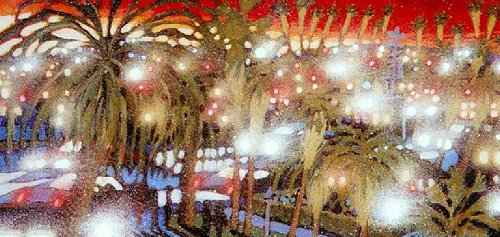 James Talmadge Santa Monica Sunset Artist's Proof Hand Pulled Serigraph