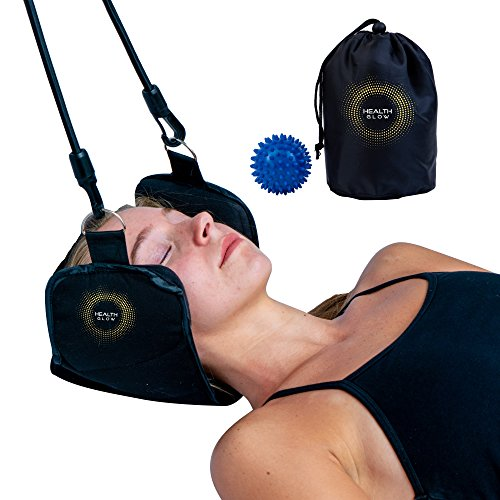 Premium Hammock for Neck Pain | Portable Cervical Traction Device | Neck Pain Relief | Bonus Massage Ball by Health Glow (Image #7)