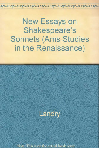 New Essays on Shakespeare's Sonnets (AMS Studies in the Renaissance)