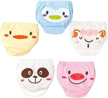 5pz YeahiBaby Mutandine di Apprendimento per Bambino Mutandine Culotte in Cotone per neonato Piccole