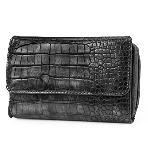 - Mundi Big Fat Wallet Womens RFID Blocking Wallet Card Carrier Clutch Organizer (Grey (Crocodile))