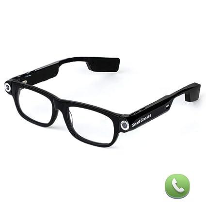 OOLIFENG 720P Oculta Los Vidrios De La Cámara, Gafas De Espía con Gran Angular Mini
