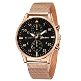 Hotkey Mens Wrist Watches Clearance Men's Fashion Sport Stainless Steel Case Leather Quartz Wrist Watch