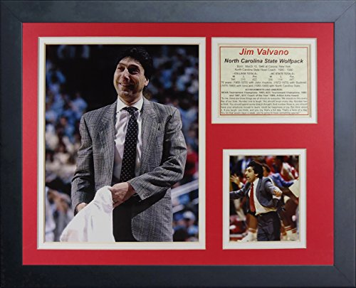 (Legends Never Die Jim Valvano NC State Wolfpack Collage Photo Frame, 11