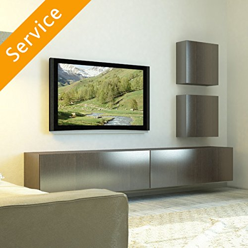 TV Wall Mounting - 66-80 Inch, Cable in Cable Cover, Bracket Not Included