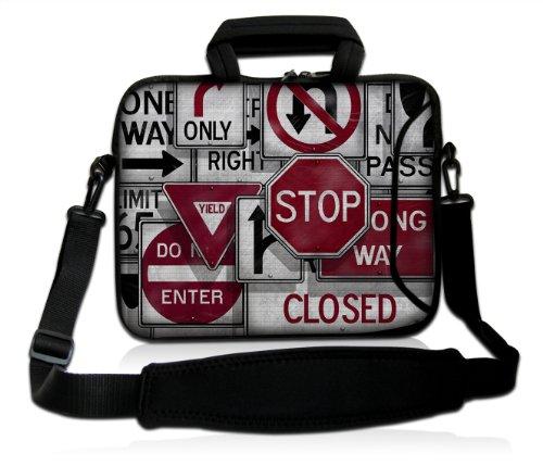 Luxburg® Design Funda bandolera Blanda Bolso Sleeve para Ordenador Portátil / MacBook de 17,3 pulgadas, motivo: Peces de colores Stop