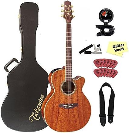 TAKAMINE ef508kc NEX KOA acústica guitarra eléctrica con funda y ...