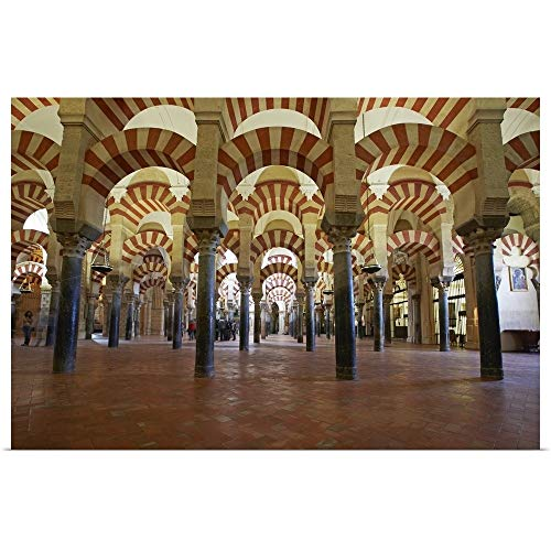 (GREATBIGCANVAS Poster Print Entitled Arches of The Mosque Cathedral of Cordoba by 18