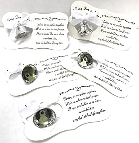 Silver Wedding Mini Bell Decorations Favors (Pack of 50) by (Wedding Bell Favors)