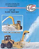 1989 RPM Tech Rotary Snow Plow Loader Brochure Canada