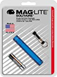Maglite Solitaire Incandescent 1-Cell AAA Flashlight Blue
