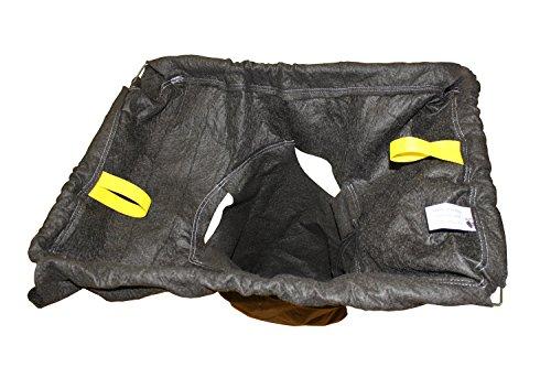 Enpac 4341 Storm Sentinel Polypropylene/Geotextile Fabric Adjustable Catch Basin Rectangular Insert, Large, For (Adjustable Catch Basin Insert)
