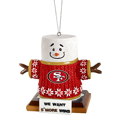 NFL Football Smores Tree Ornament San Francisco 49ers