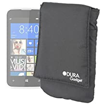 DURAGADGET Premium Lightweight, Cushioned & Ultra-Portable Smartphone Case/Cover in Black for New BLU Win JR