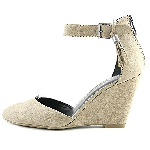very cheap price cheap prices authentic Indigo Rd. Womens Earli Closed Toe Ankle Strap Wedge Pumps Light Grey Fabric perfect sale online cheap sale shop Cheapest MuVsKMYV42