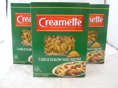 Creamette Large Elbow Macaroni Noodles 1# Three (3) Boxes