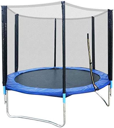 6 FT Large Trampoline, Indoor/Outdoor Trampoline with Safety Enclosure Net, Stable, Strong Trampoline with Jumping Mat and Spring Cover Padding – for Children & Adults