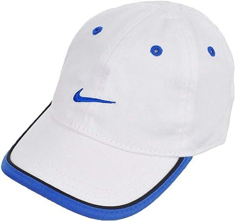 Nike - Gorra de sarga para bebé varón - 6A2505A 459, Blanco/Royal ...
