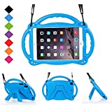BMOUO Kids Case for iPad Mini 4 3 2 1, Shockproof Light Weight Handle Kickstand Case with Shoulder Strap for iPad Mini 4, iPad Mini 3, iPad Mini 2, iPad Mini - Blue