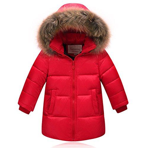 DING DONG Ding-dong Kid Boy Girl Winter Hoodie Fur Down C...