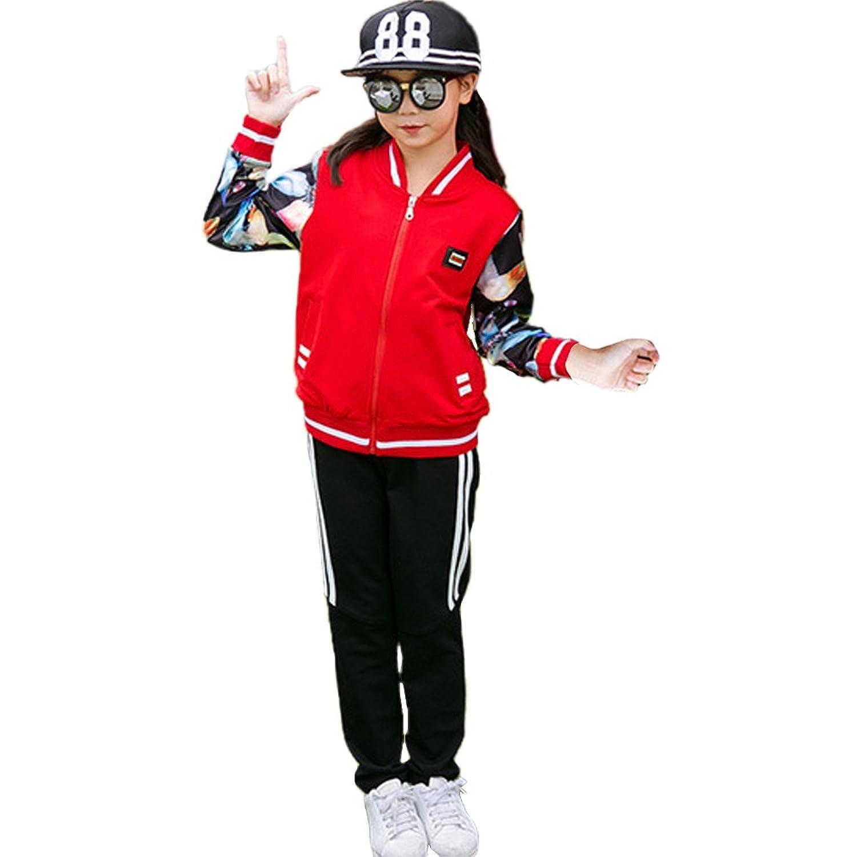 OnlyAngel Boys Sports Tracksuit Zipper Jacket /& Elastic Waist Pant Clothing Set Age 3-11
