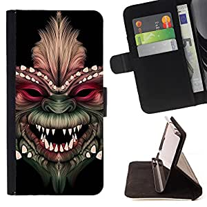 Super Marley Shop - Funda de piel cubierta de la carpeta Foilo con cierre magnšŠtico FOR Samsung Galaxy S3 III I9300 I9308 I737- Devil Funny Kidding