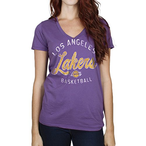 NBA Women's Los Angeles Lakers Purple Champion Tee By Junk Food (Small)