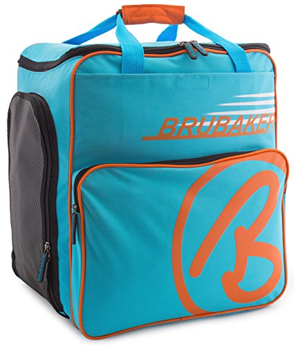 BRUBAKER Winter Sports Boot Bag Super Champion - Limited Edition - Backpack Blue Orange by BRUBAKER