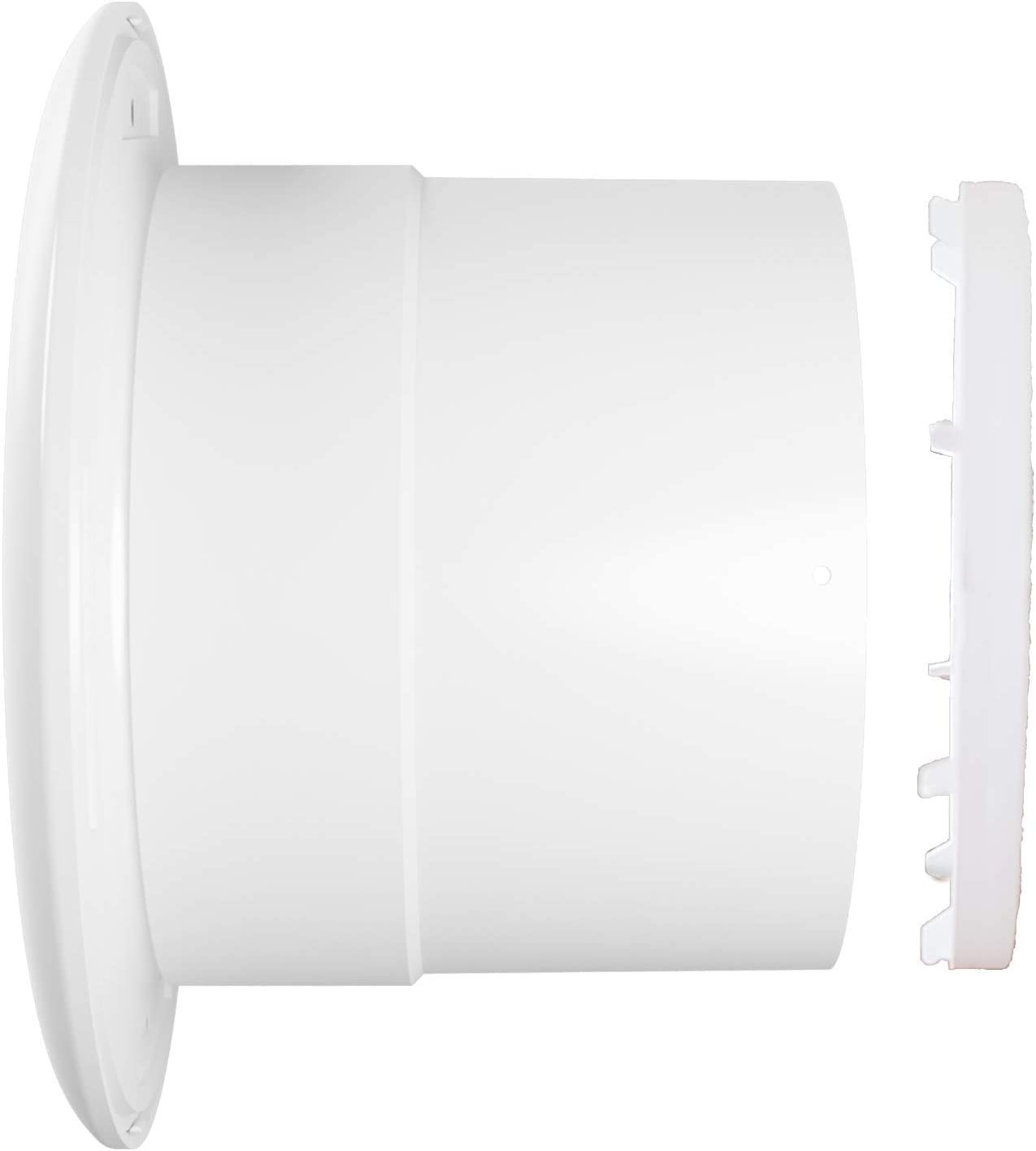 Ventilador extractor de ba/ño aire 125 mm Silencioso con v/álvula Anti-retorno+mosquitera integrada,190 m3 h.Ideal para ba/ño,cocina,inodoro,oficina,silencioso,alta calidad,Garant/ía 5 A/ÑOS