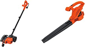BLACK+DECKER Edger and Trencher, 7.5-in, 12 Amp (LE750) & Electric Leaf Blower, 7-Amp (LB700)