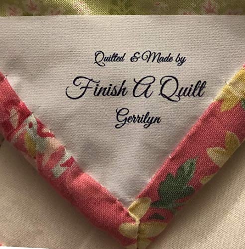 8 Custom Iron ON Fabric Quilt Corner Sewing Labels/Tags for personalizationIN Color Ink-Made in USA (Quilt Fabrics Corner)