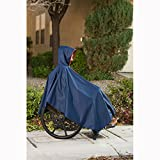 CareActive 9660-0-BLK Wheelchair Rain Poncho-Black