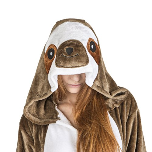 Warm Halloween Costumes For Women (Adults and Teens Sloth Halloween and Christmas Costume for Women and Men (Large))
