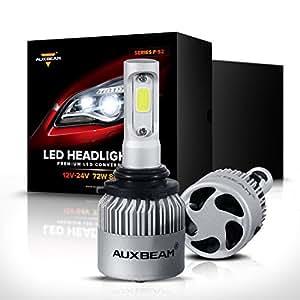 Auxbeam LED Headlights F-S2 Series 9006 LED Headlight Bulbs with 2 Pcs of Led Headlight Bulb Conversion Kits 72W 8000LM Bridgelux COB Chips Fog Light - 1 Year Warranty