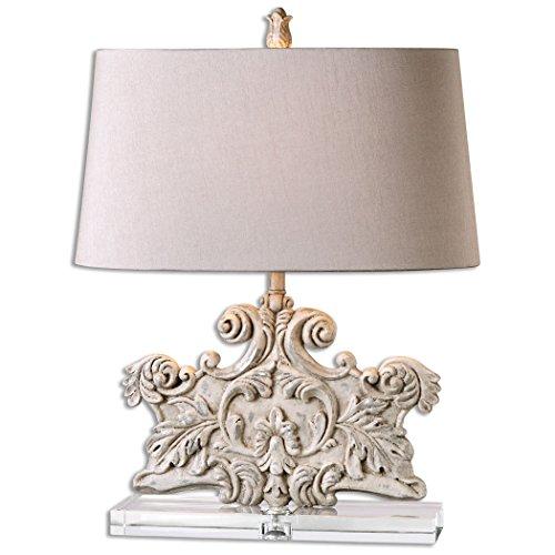 Ornate Italian Style Table Lamp Distressed Stone - Lamp Italian Table Style