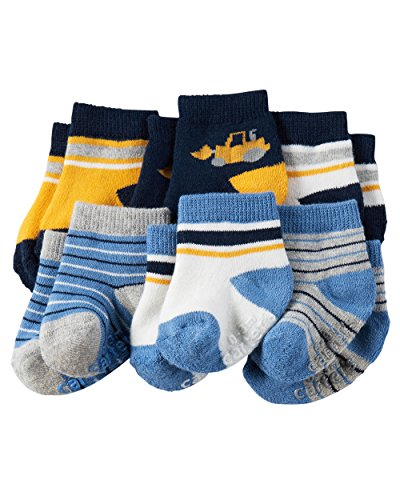 Carter's Baby-Boys Socks, Construction, 0-3 Months (Pack of 6)