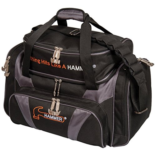 Hammer Deluxe Double Tote Black/Carbon (Bowling Ball 2 Bag)