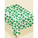 Amscan Lucky Irish St. Patrick's Day Shamrock Party Décor with Foil String Hangers and Table Cover - Bundled by Maven Gifts