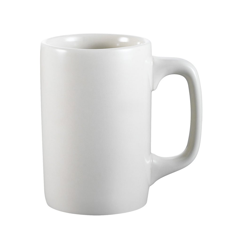 CAC China PRM-12-W 11-Ounce Stoneware Round Straight Mug, 3-Inch, American White, Box of 36 by CAC China (Image #1)