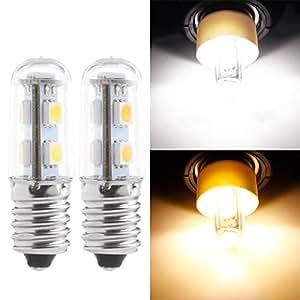 liyudl LED bombilla, E147LED 5050SMD 1W/220V vela de ahorro luz casa bombilla de maíz blanco/blanco cálido