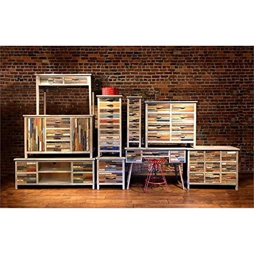 Emerald Home Furnishings Pablo Multi Color and Soft Gray Buffet with Hardworking Storage and Organization